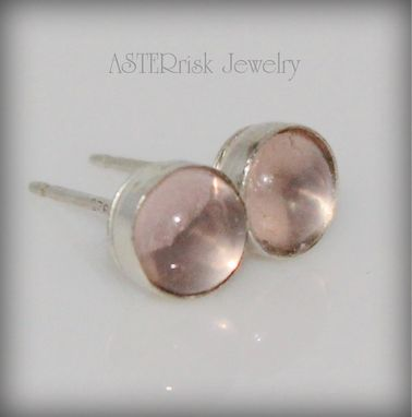 Custom Made Rose Quartz Stud Earrings