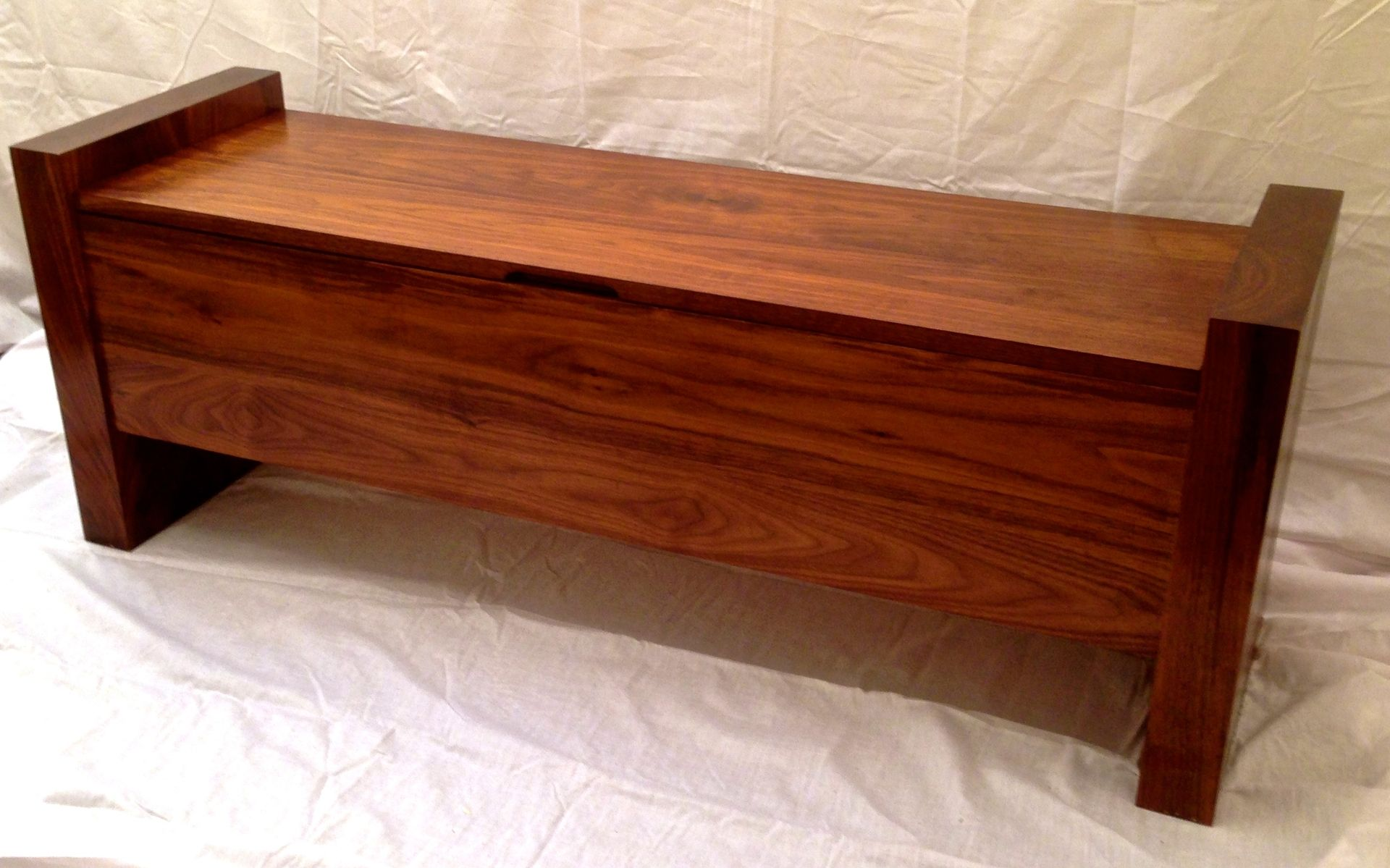 Handmade Walnut Storage Bench By Shawn S Woodworking