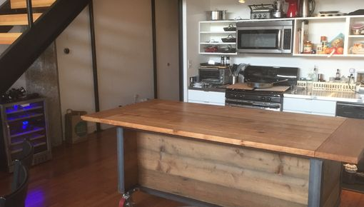 Custom Made Loft-Size Kitchen Cart