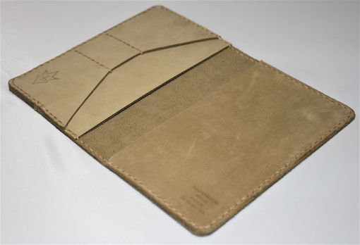 Custom Made Handmade Field Notes Cover Wallet Scribo Desert Tan Tactical Combat Boot Leather U.S. Army