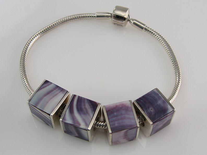 A Handmade Wampum S Cube Charm Fits Any Pandora Like Bracelet Made To Order From Cesars World Custommade