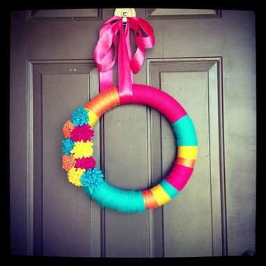 Custom Made Yarn Wreath