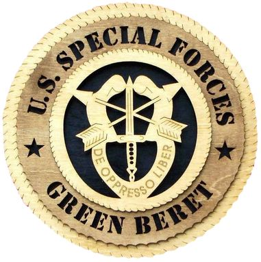 Custom Made U.S. Special Forces Green Beret Wall Tribute, U.S. Special Forces Green Beret Hand Made Gift