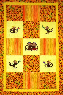 Custom Made Custom Made Monkey Business Flannel Quilt