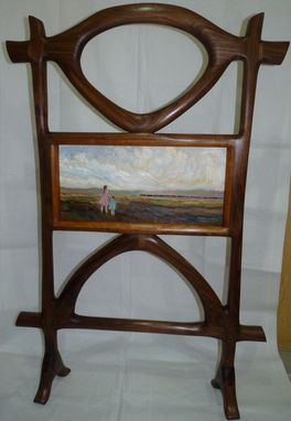 Custom Made Walnut Room Screen