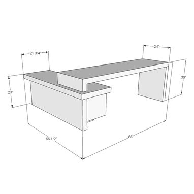 Custom Made Delta Executive Reception Desk