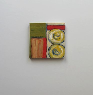 Custom Made Miniature Acrylic Abstract Painting On Canvas