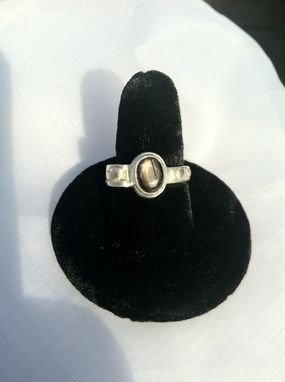 Custom Made Black Star Sapphire Engagement Ring