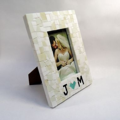 Custom Made Wedding Picture Frame With Couples Initials 4x6