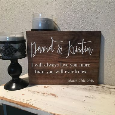 Custom Made 12x10 Custom Wood Sign-You Design- Stained