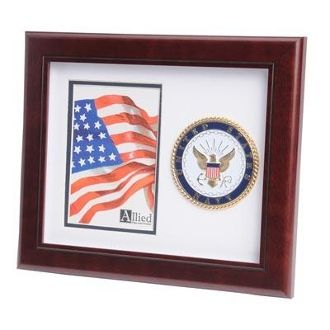 Custom Made U.S. Navy Medallion Portrait Picture Frame