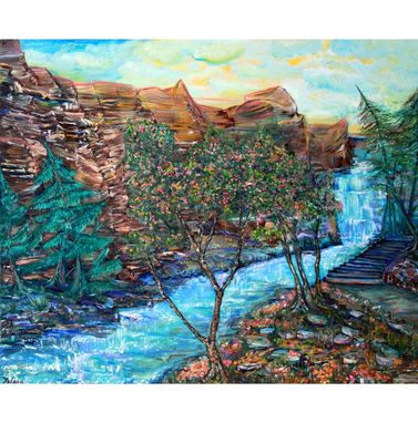 Custom Made Large Oil Painting On Canvas Natures Majesty