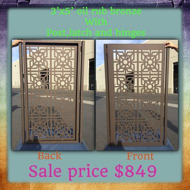 Custom Made Contemporary Metal Steel Gate Modern Urban Pedestrian Iron Art Garden Gate