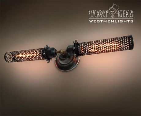 Custom Made Westmenlights Vintage Industiral Iron Mesh Wall Sconce Lamp Art Deco Home Bar Lighting