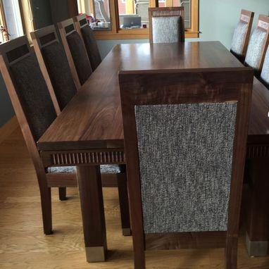Custom Made Contemporary Dining Table Made From Solid Walnut