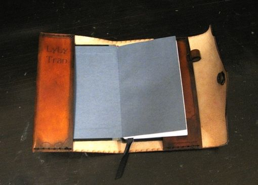 Custom Made Custom Leather Journal Cover 6x4 - Bamboo Dragon