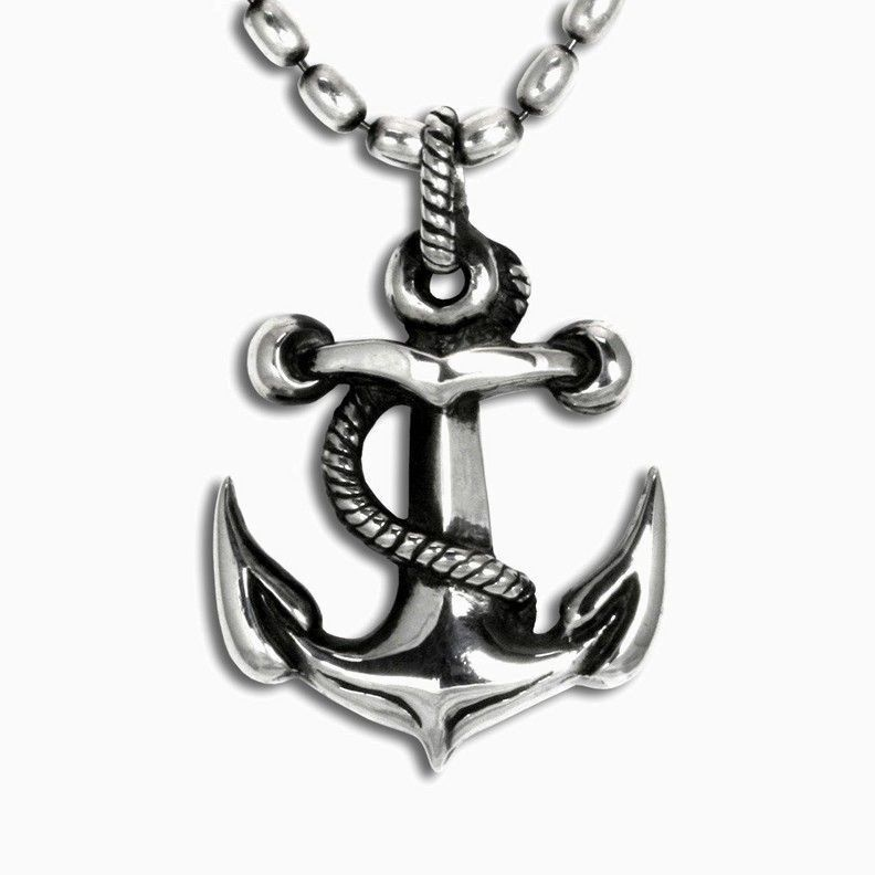 Buy a hand made anchor pendant in sterling silver made to order custom made anchor pendant in sterling silver aloadofball