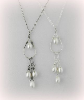 Custom Made White Pearls Sterling Silver Necklace