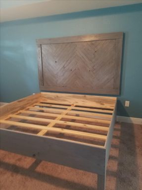 Custom Made Reclaimed Wood Headboard And Bedframe