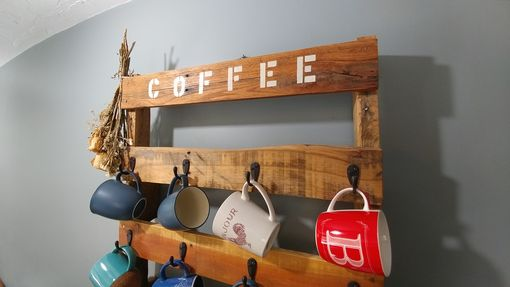 Custom Made Pallet Wood Coffee Cup Holder