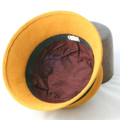 Custom Made Mustard Gold Cloche Hat - Made To Order