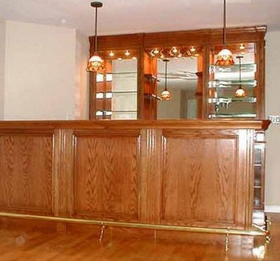 Custom Made Traditional Oak Bar