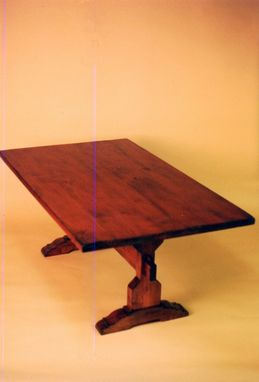 "Custom Made ""Buffalo Mountain Lodge"" - Alder Trestle Dining Table"