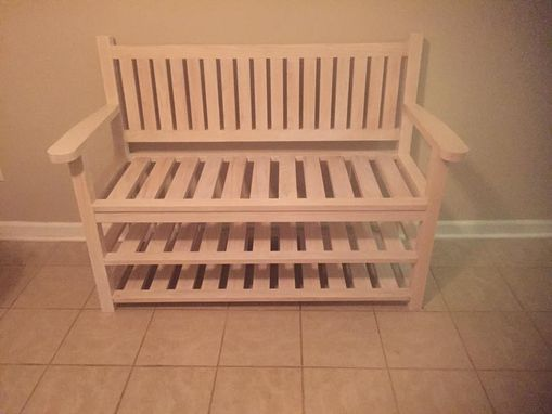 Custom Made Sitting Bench With Shoe Storage