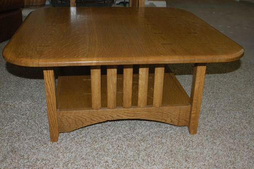 Custom Made Mission Style Coffee Table And End Tables - Quarter Sawn White Oak