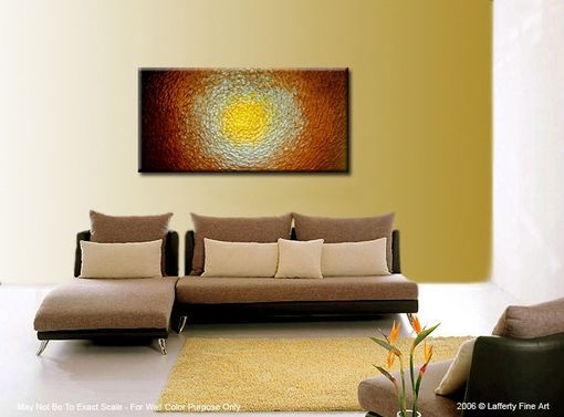 Custom Made Palette Knife Painting, Abstract Gold, Original Metallic Textured Painting, Contemporary Art