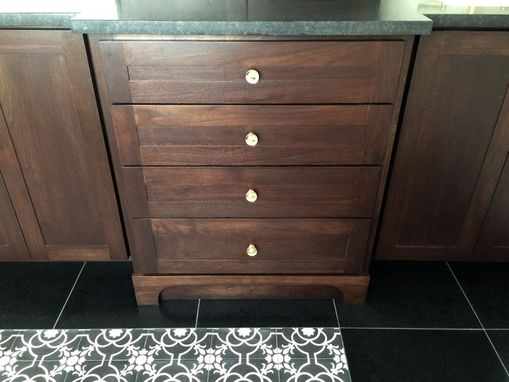 Custom Made Custom Walnut Vanity