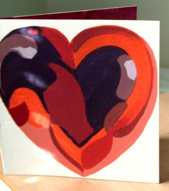 Custom Made Valentine's Day Card Hand Painted