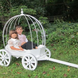 Large Angel Carriage Painted By