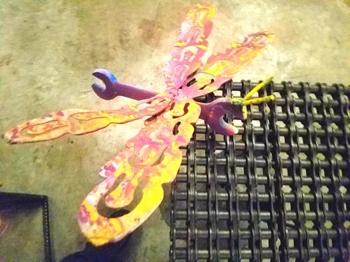 Custom Made Repurposed Wrench Dragonfly Garden Stake By Raymond Guest