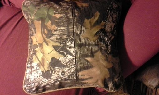 Custom Made Camo Bedspread & Pillowcases & Throw Pillows