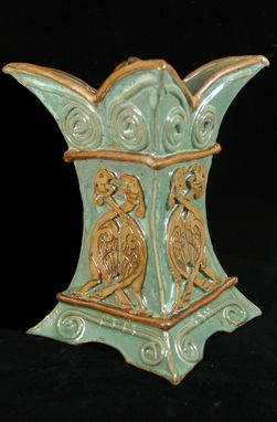 Custom Made Celtic Bird Vase