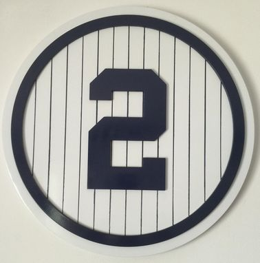 Custom Made Retired Number Plaque