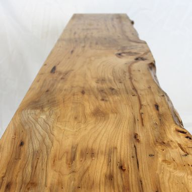 Custom Made Live Edge Hickory Console Table