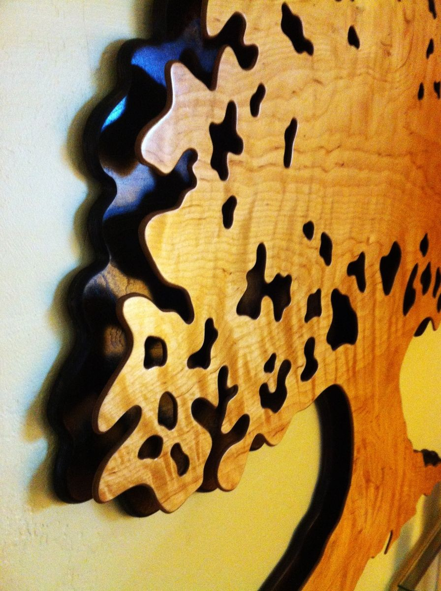 Hand Made Shipman Tree Service Layered Oak Tree Silhouette by ...