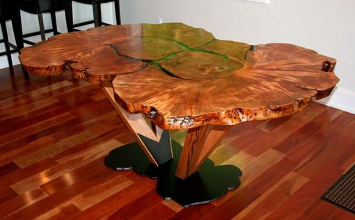 Custom Made Burl Dining Table