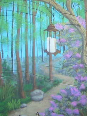 Custom Made Treehouse Mural