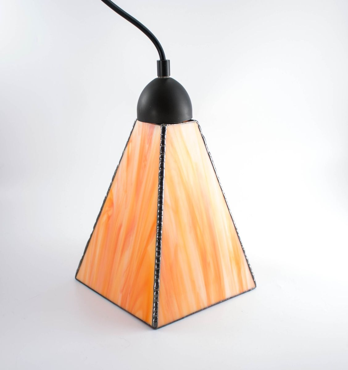 Hand Crafted Custom Streaky Art Glass Pendant Lights Choice Of Colors By Nostalgia N More Custommade Com