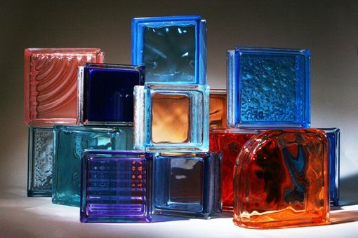 Custom Made Colored Glass Block For Windows, Showers And Walls