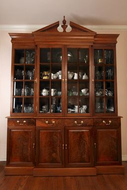 Custom Made Chippendale Style China Cabinet In Walnut