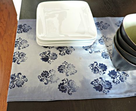 Custom Made Hand-Dyed & Block Printed Table Runners