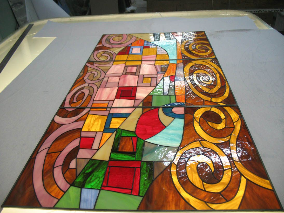 Hand Made Stained Glass Windows Skylights Custom Cabinet Glass