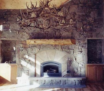 Custom Made Great Room Fireplace With Large Log Mantel