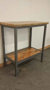 Custom Made Handcrafted Bar Height Table With Shelf Below