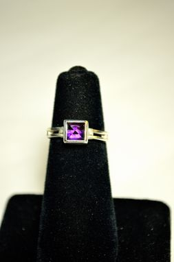 Custom Made Hinge Ring With Stone