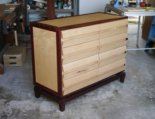 Custom Made Dresser / Chest Of Drawers  With Exotic Wood